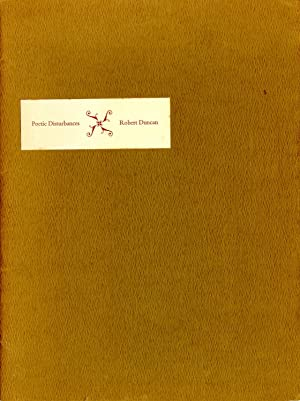 Poetic disturbances. Inscribed, with drawing, 1970