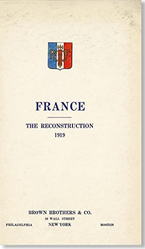 France: the reconstruction, 1919