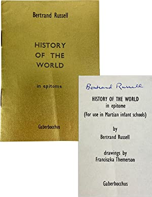 History of the World in Epitome (for use in Martian infant schools) [Signed by Russell]