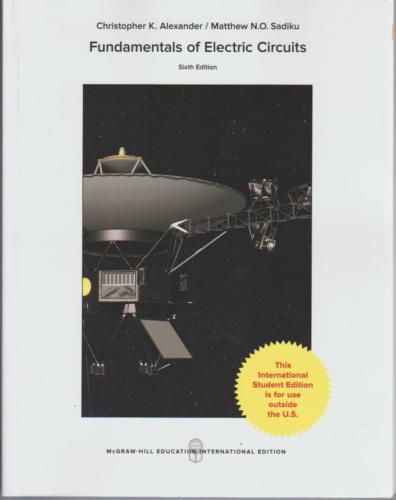 International Edition Fundamentals Of Electric Circuits 6th