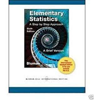 INTERNATIONAL EDITION---Elementary Statistics, 6th edition: Allan Bluman
