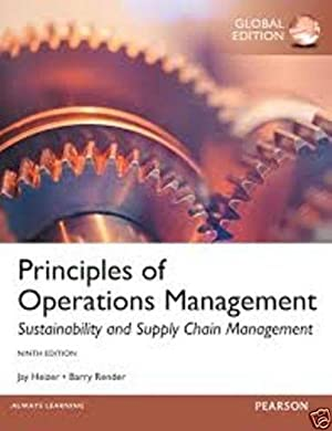 INTERNATIONAL EDITION---Principles of Operations Management, 9th edition: Barry Render and
