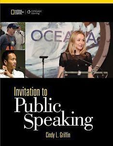 ACCESS CODE FOR EBOOK---Invitation to Public Speaking: Cindy L. Griffin