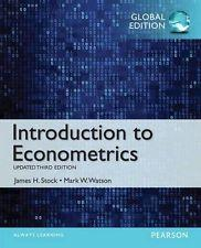 INTERNATIONAL EDITION---Introduction to Econometrics, Update, 3rd edition: James H. Stock