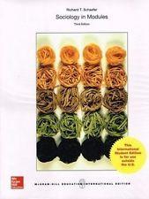 INTERNATIONAL EDITION---Sociology in Modules, 3rd edition: Richard T. Schaefer