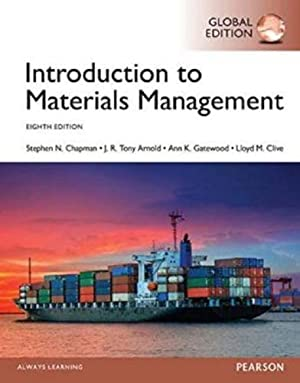 INTERNATIONAL EDITION---Introduction to Materials Management, 8th edition: Steve Chapman and