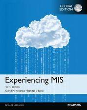 INTERNATIONAL EDITION---Experiencing MIS, 6th edition: David M. Kroenke