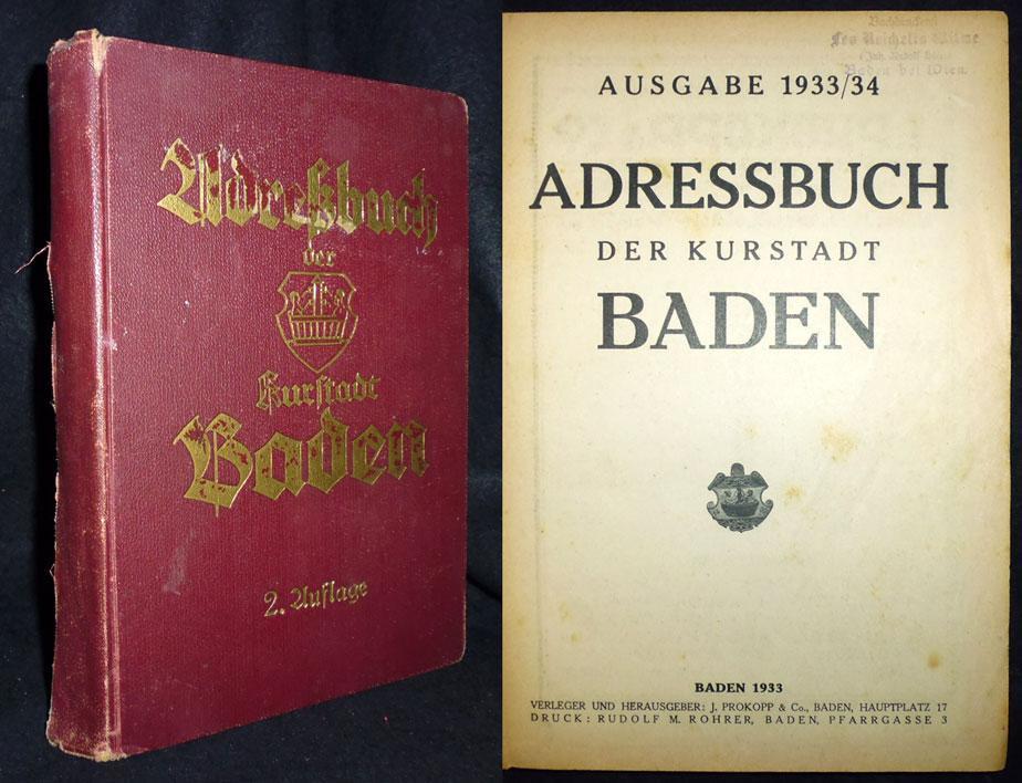 Adressbuch Baden Baden