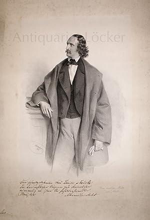 Alexander Arleth. Gesangslehrer in Wien [gest. ca 1875]. Orig. Lithographie.: Kriehuber, Josef.