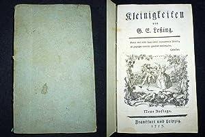 Kleinigkeiten von G. E. Leßing. Neue Auflage.: LESSING, Gotthold Ephraim.