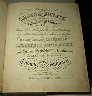 Sammelband mit 8 in Kupfer gestochenen Kompositionen.: Beethoven, Ludwig van