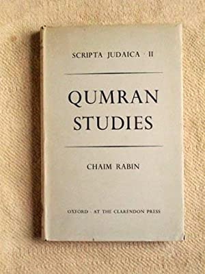 Qumran studies. Institute of Jewisch Studies Manchester Scripta Judaica 2.