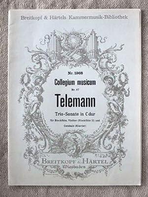 Trio-Sonate in C dur. Für Blockflöte, Violine: Telemann, Georg Philipp: