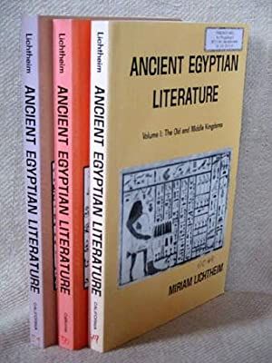 Ancient Egyptian Literature (3 Volumes, complete). Vol. I: The Old and Middle Kingdoms / Vol. II:...