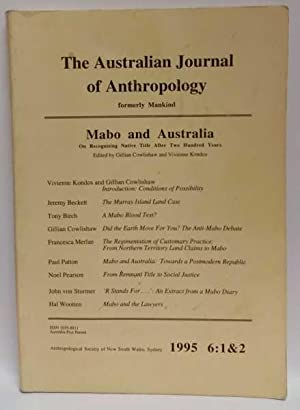 The Australian Journal of Anthropology 1995 6:1&2 (Mabo and Australia)