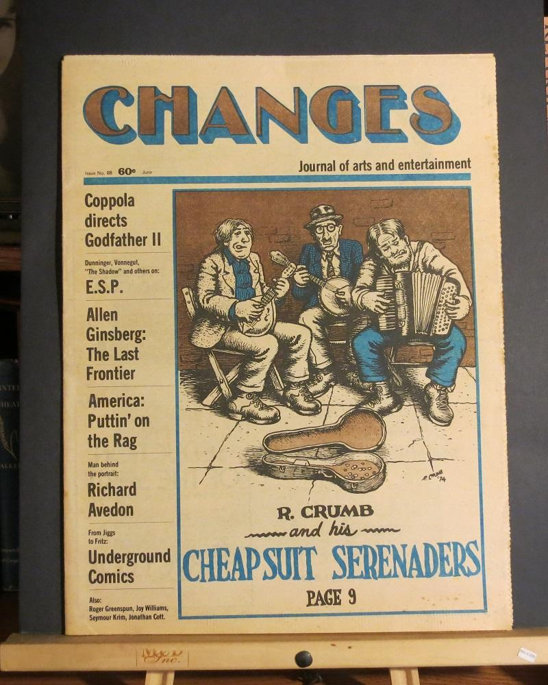 Changes Journal of Arts and Entertainment #88 (R Crumb Cover) Robert Crumb, Allen Ginsgerg, Will Eisner As New Softcover