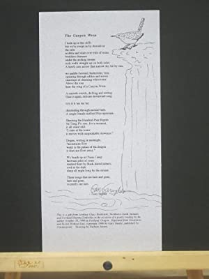 The Canyon Wren (Signed Broadside)