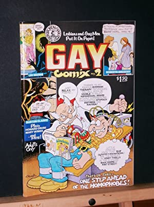 "Gay Comix #2 ""Lesbians and Gay Men: Marrs, Lee and"