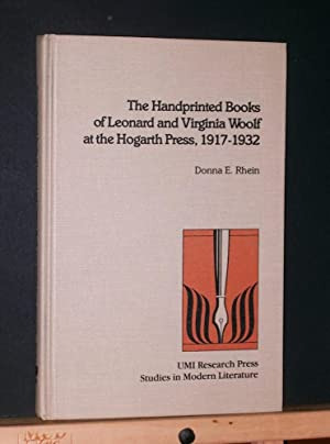 The Handprinted Books of Leonard and Virginia Woolf at the Hogarth Press, 1917-1932