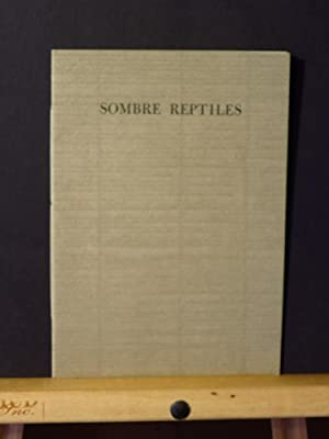 Sombre Reptiles, List of Titles (Publishers Catalog)