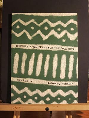 Bookways A Quarterly for the Book Arts #10; January 1994