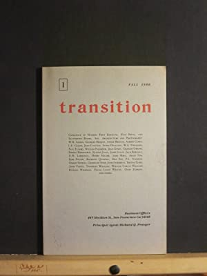 Transition Catalogue #1, First Editions, Fine Press and Illustrated Books