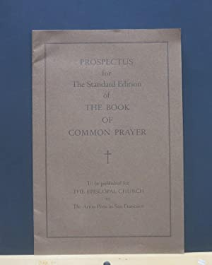 Prospectus for The Standard Edition of the Book Of Common Prayer