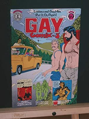 "Gay Comix #3 ""Lesbians and Gay Men: Gregory, Roberta and"