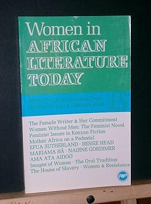 Women in African Literature Today: Jones, Eldred Durosimi