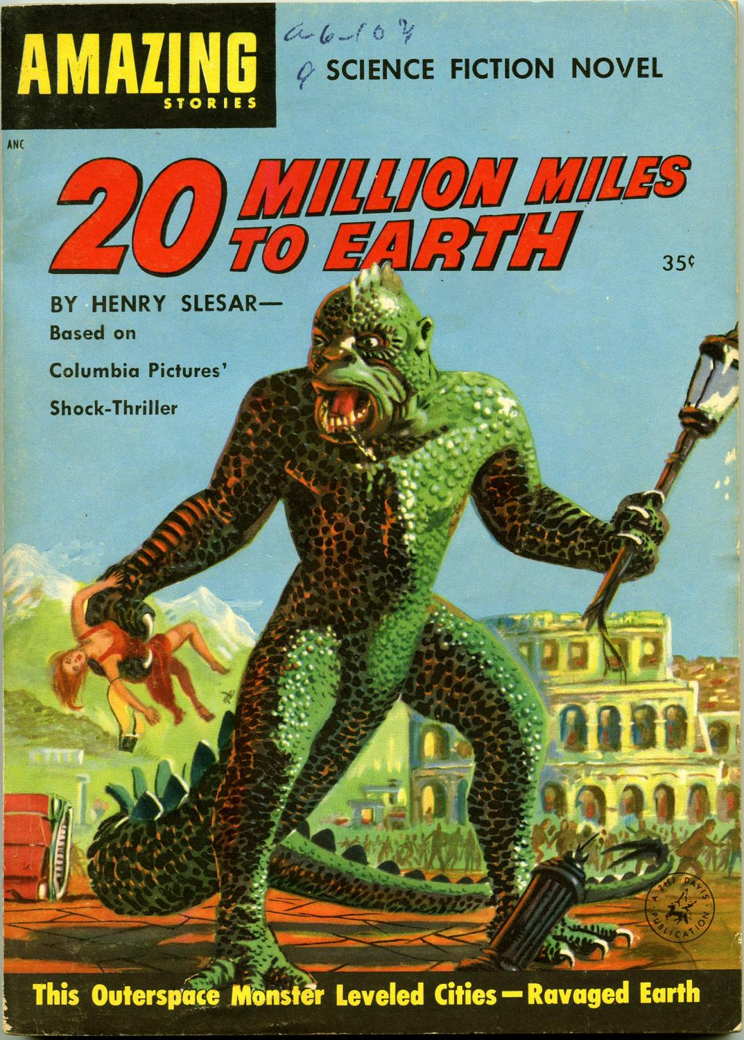 20 Million Miles to Earth Slesar, Henry Near Fine Softcover