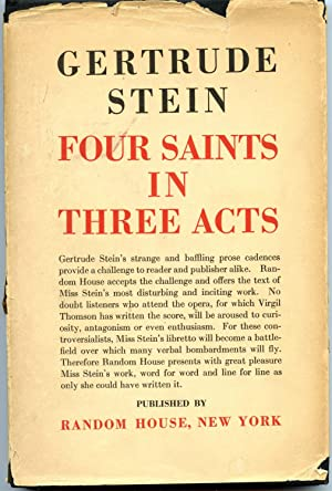 Four Saints in Three Acts: Stein, Gertrude