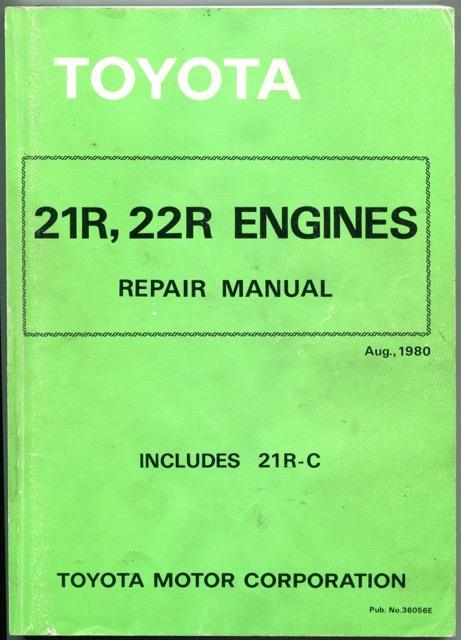 toyota 21r 22r engine repair manual includes 21r c by toyota rh abebooks co uk Toyota Tis Website Vehicle Repair Manuals
