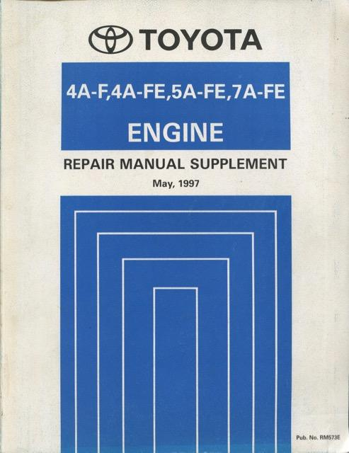 toyota 4a f 4a fe 5a fe 7a fe engine repair manual supplement may rh abebooks co uk toyota 5afe engine manual pdf Toyota Corolla 1.6 Engine