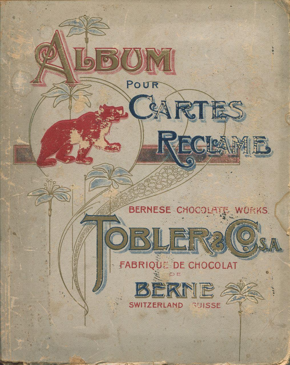 Album pour cartes reclame. Tobler & Co. Hardcover Contains 152 Tobler cards. 27 cm. FR. Sound condition, covers worn, some cards fitted into sleeves, some glued in.
