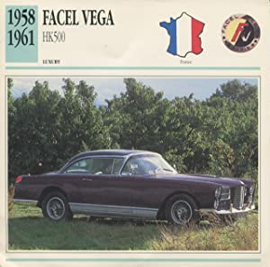 Facel Vega HK500.: Edito-Service SA