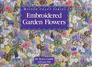 Embroidered garden flowers.: Lampe, Diana and