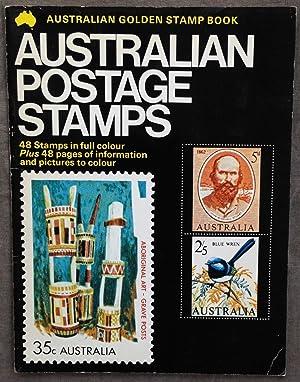 Golden stamp book of Australian postage stamps.: Ruskin, Pamela
