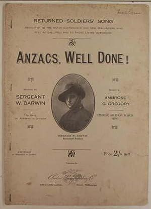 Anzacs, well done!: Darwin, William (words)