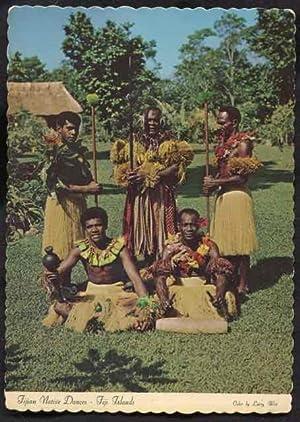 Native Fijian dancers in authentic costume, Fiji: Witt, Larry