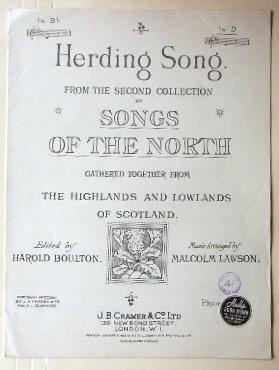 Herding Song.: Boulton, Harold and