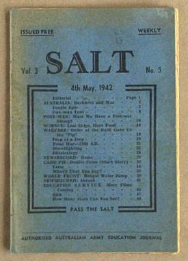 Salt Vol. 3 No. 5 Army Education: Australian Army