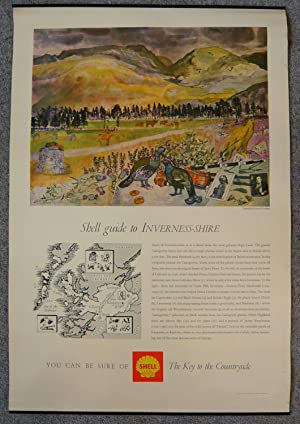 Shell Guide To Inverness-shire. Original Shell Poster: Illustrated By Leonard Rosoman.
