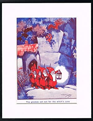 The Gnomes Set Out (Mounted Illustration from: ARIS, Ernest