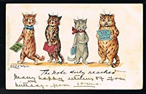 The Note Duly Reached Write Away Cat Postcard