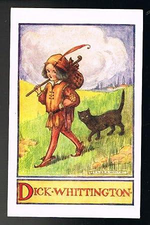 Dick Whittington Postcard: WHITE, Flora
