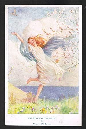 The Year's at the Spring Postcard -: TARRANT, Margaret W.