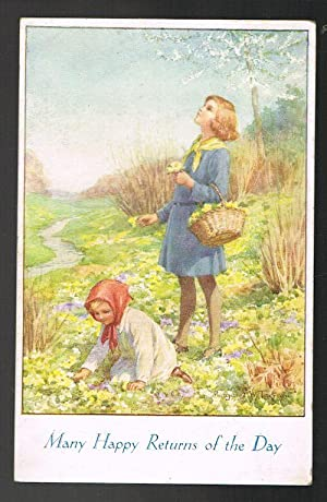 Birthday Greetings Postcard - The Springtime of: TARRANT, Margaret W.