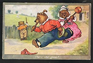 There She Goes Three Bears Postcard