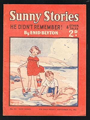 Sunny Stories: He Didn't Remember & Other Tales (No. 541: New Series: September 5th, 1952)