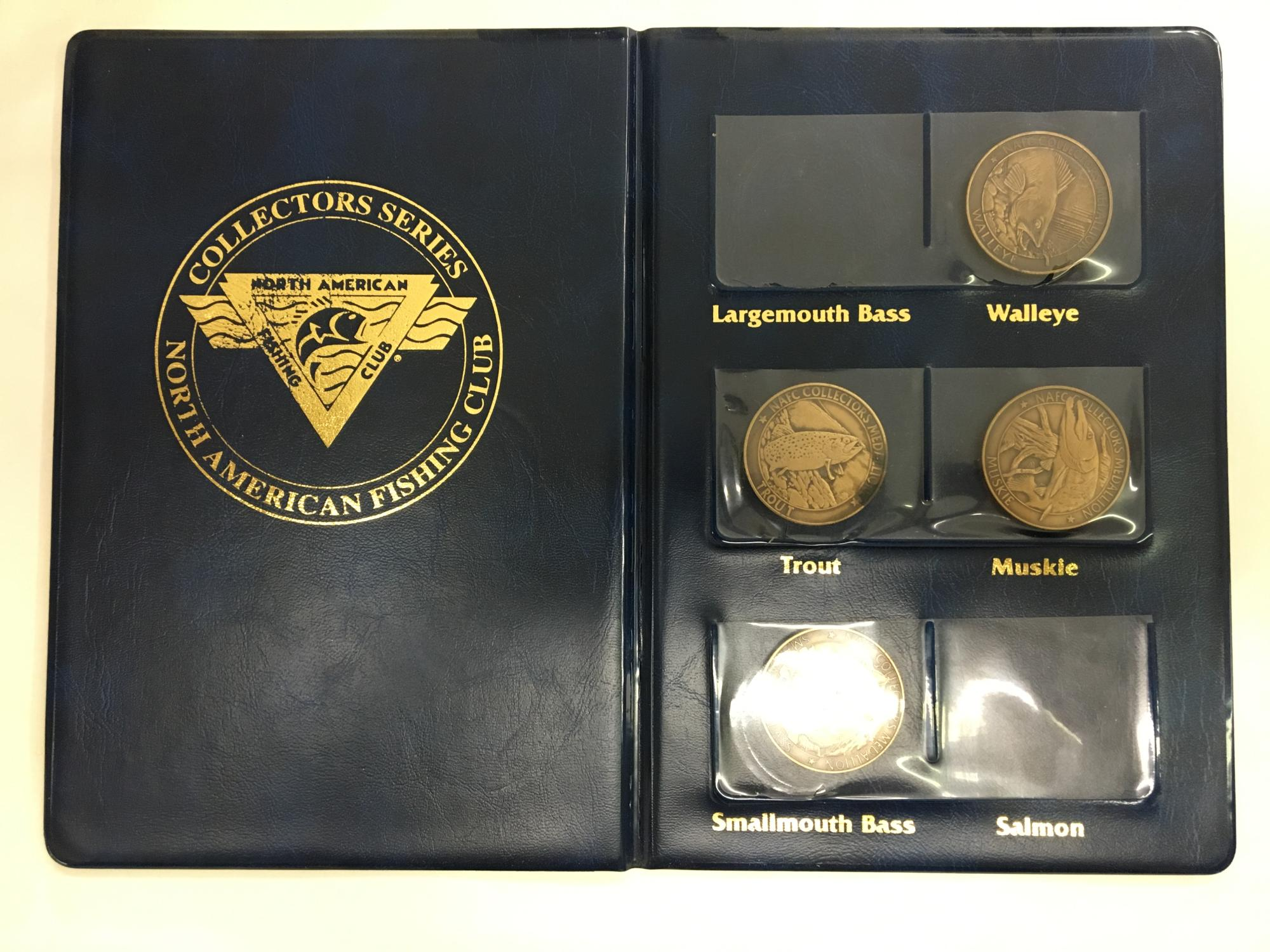 North American Fishing Club; NAFC - Collector's Medallions with Case
